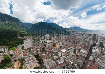 View Of Downtown Bogota In Colombia From Above