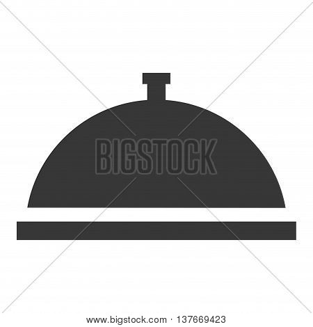 simple flat design dish tray icon vector illustration silhouette