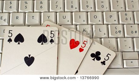 Playing Cards Over Pc