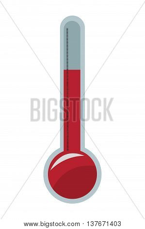 flat design analog thermometer icon vector illustration