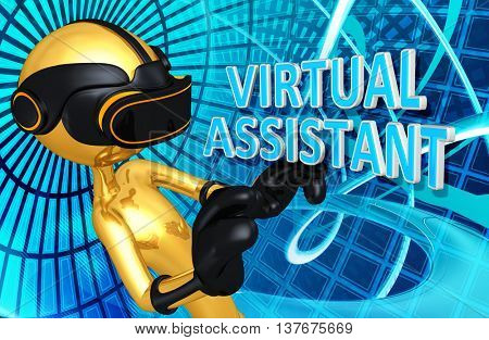 Virtual Reality VR Assistant  3D Illustration
