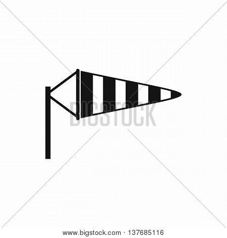 Windsock icon in simple style isolated vector illustration