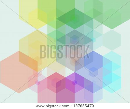 Vector Abstract Geometric Background is a Simple colorful background consisting of hexagons summer with place for your text Design Pattern Texture Brochure