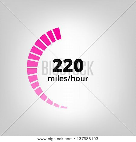 Speedometer Icon in Vector EPSImage. Speedometer flat sign for logo and web usage.