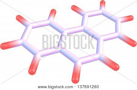 Phenanthrene is a polycyclic aromatic hydrocarbon composed of three fused benzene rings. The name phenanthrene is a composite of phenyl and anthracene. In its pure form it is found in cigarette smoke and is a known irritant photosensitizing skin to light. poster