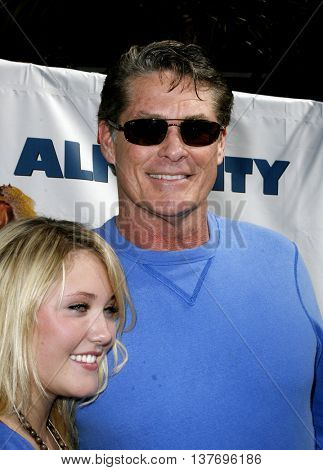 David Hasselhoff and Hayley Hasselhoff at the World premiere of 'Evan Almighty' held at the Universal Citywalk in Universal City, USA on June 10, 2007.