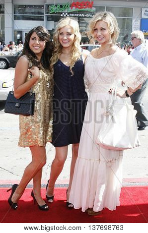 Daniella Monet, AJ and Aly Michalka at the World premiere of 'Nancy Drew' held at the Grauman's Chinese Theater in Hollywood, USA on June 9, 2007.