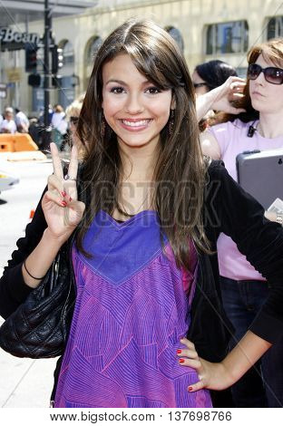 Victoria Justice at the World premiere of 'Nancy Drew' held at the Grauman's Chinese Theater in Hollywood, USA on June 9, 2007.