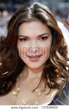 Laura Harring at the World premiere of 'Nancy Drew' held at the Grauman's Chinese Theater in Hollywood, USA on June 9, 2007.