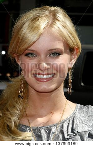Sara Paxton at the World premiere of 'Nancy Drew' held at the Grauman's Chinese Theater in Hollywood, USA on June 9, 2007.