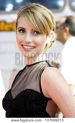 Emma Roberts at the World premiere of 'Nancy Drew' held at the Grauman's Chinese Theater in Hollywood, USA on June 9, 2007.