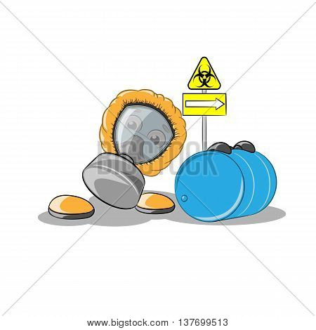 Smiley roll blue barrel of bio waste