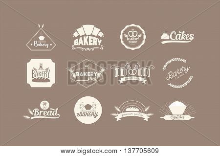 Bakery Logos and badges, labels or signs, stock vector