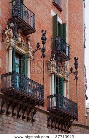 Balconies Of Casa Terrades In Avinguda Diagonal Of Barcelona
