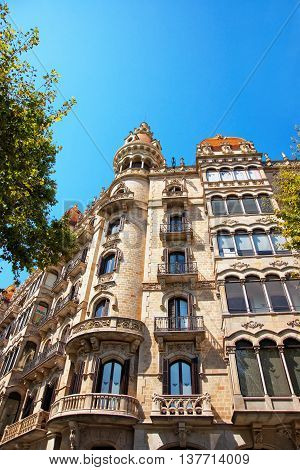 Casa Rocamora In Eixample District Of Barcelona