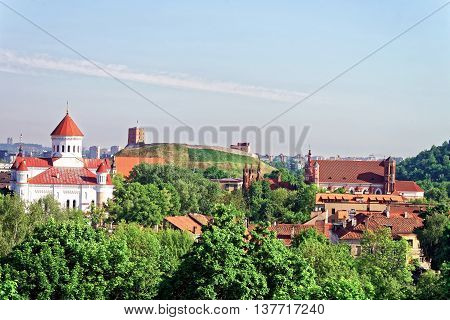 Upper Castle And Cathedral Of Theotokos In Vilnius Center