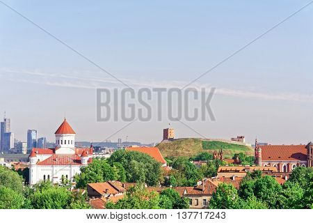 Upper Castle And Cathedral Of Theotokos In Vilnius City