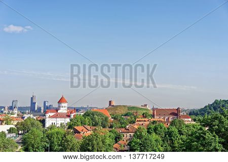 Upper Castle And Cathedral Of Theotokos In Vilnius In Lithuania