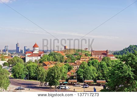Upper Castle And Cathedral Of Theotokos In Vilnius Of Lithuania