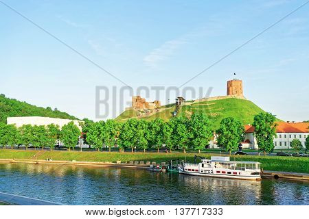 Upper Castle And Neris River In Vilnius In Lithuania