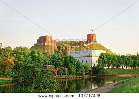 Upper Castle And Waterfront At The Neris River