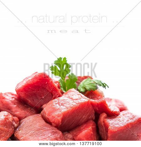 Pile Of Juicy Beef Cubes, Close Up
