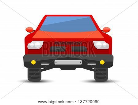 Car pickup truck vehicle transport type design sign technology style vector. Generic pickup truck car design flat vector illustration isolated on white. Transport pickup truck object