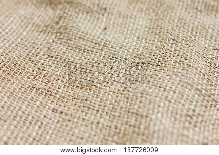 texture of coarse cloth with pleats burlap for background and texture
