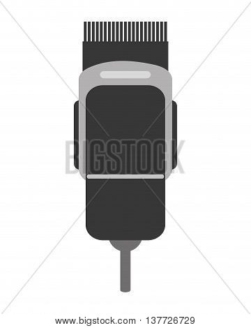 simple flat design electric hair clipper icon vector illustration