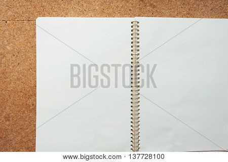 the empty notebook and Corkboard background .