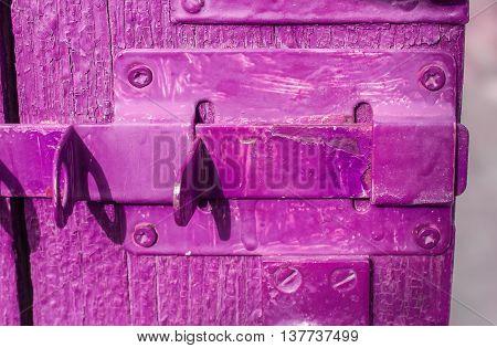 Old wooden door with bolt shabby door