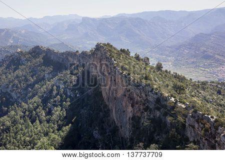 Way to La Caixa of Valderrobres from Beceite