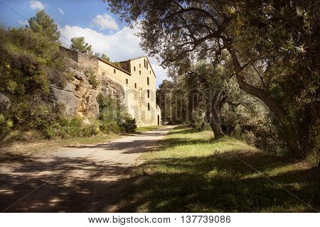 Gracia Virgin Convent in the middle of the forest. Teruel province