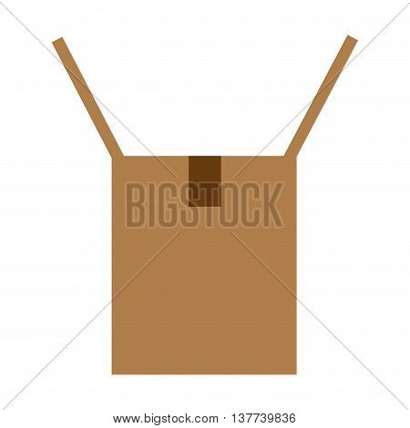 Cardboard box opened icon Isolated vector illustration