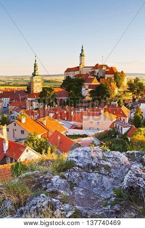 Town of Mikulov in Moravia, Czech Republic.