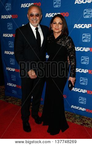 NEW YORK-NOV 17: Singer Gloria Estefan (R) and husband Emilio Estefan attend the ASCAP Centennial Awards at The Waldorf Astoria on November 17, 2014 in New York City.