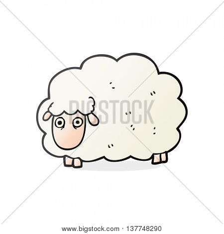 freehand drawn cartoon farting sheep