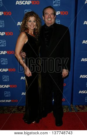 NEW YORK-NOV 17: Singer/songwriter Jimmy Webb (R) and wife Laura attend the ASCAP Centennial Awards at The Waldorf Astoria on November 17, 2014 in New York City.