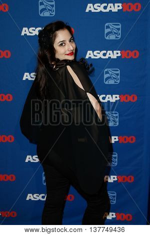 NEW YORK-NOV 17: Singer/songwriter Sinem Saniye attends the ASCAP Centennial Awards at The Waldorf Astoria on November 17, 2014 in New York City.