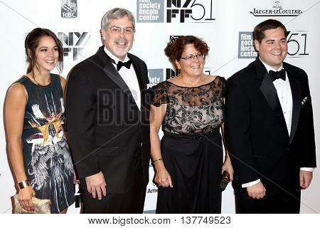 NEW YORK-SEP 27: (l-r) Mariah Phillips, Captain Richard Phillips, Andrea Phillips and Daniel Phillips attend premiere of