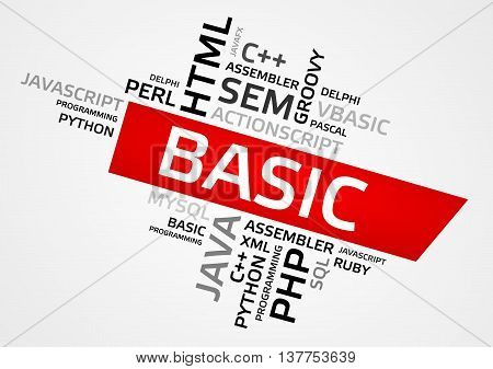Basic Word Cloud, Tag Cloud, Vector Graphics