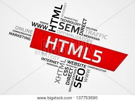 Html5 Word Cloud, Tag Cloud, Vector Graphics