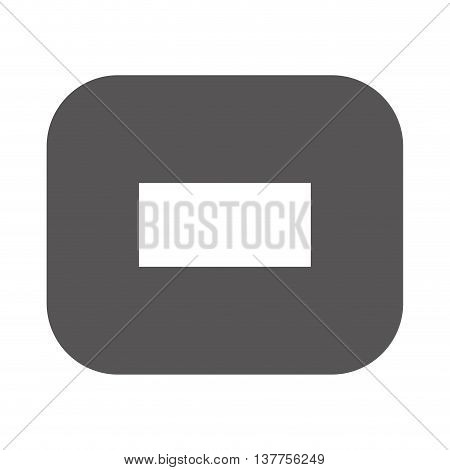 subtraction financial math icon isolated vector illustration