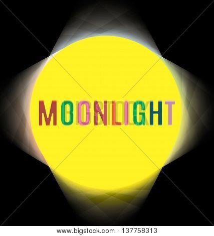 searchlights around labels moonlight color projector yellow