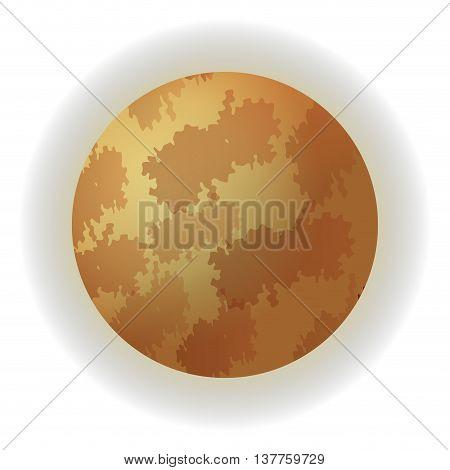 flat design planet mars icon vector illustration