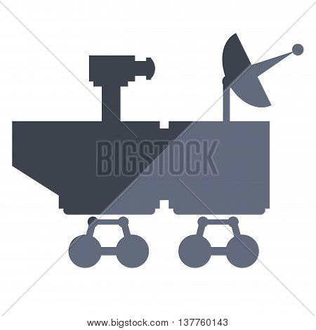 flat design mars rover curiosity icon vector illustration