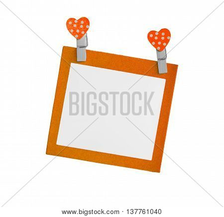 Blank color paper isolated use for insert text isolated on white background.