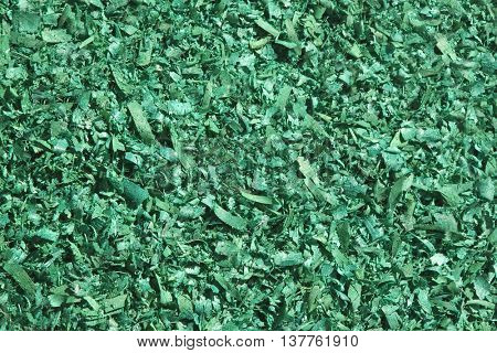 Green wood chippings. Usable as a background
