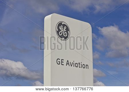 Lafayette, IN - Circa July 2016: General Electric Aviation Facility. GE Aviation is a Manufacturer of LEAP Jet Engines VII