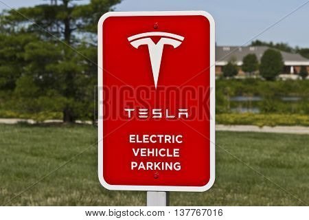 Lafayette IN - Circa July 2016: Tesla Supercharger Station. The Supercharger offers fast recharging of the Model S and Model X electric vehicles II